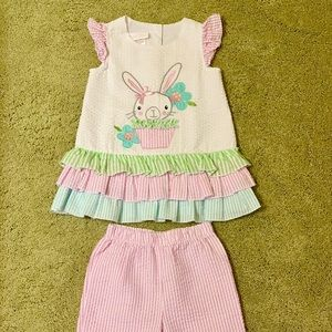 Bonnie Jean Baby Girls Easter Bunny Outfit 2T